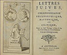 ARGENS Jean Baptiste - Les Lettres Juives ou Correspondance philosophique, historique et critique en