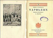 LUDWIG Emil - Napoleon. Przekład autoryzowany L. Staffa. Poznań 1929. Wydawn. Polskie (R. Wegner). 8