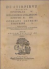 GUILANDINUS Melchior - De Stirpibus aliquot epistolae V: Melchioris Guilandini Borussi R. IIII. Conr