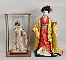 Two Large Japanese Geisha Dolls