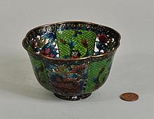 Chinese Plique-A-Jour Enameled Bowl