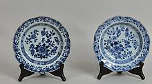 Near Pair Chinese Blue/White Porcelain Bowls