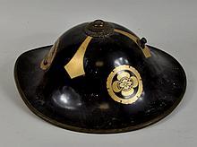 Japanese Lacquer Jingasa Parade Helmet