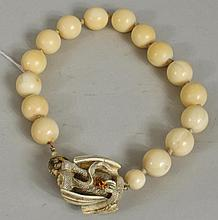 Japanese Carved Ivory Necklace