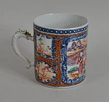 Chinese Rose Mandarin Export Porcelain Mug