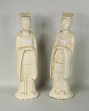 Pair Chinese Glazed Earthenware Figures