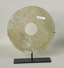 Chinese Light Green Jade Bi Disc