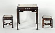 Three Chinese Art Deco Square Tables