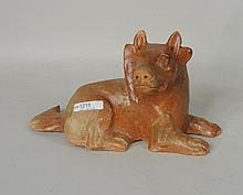 Chinese Glazed Terracotta Pottery Dog