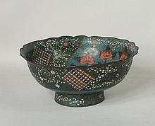 Japanese Large Bronze Cloisonne Bowl