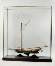 Vintage Ship Model Hudson River Sloop