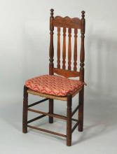 American Bannister Back Rush Seat Side Chair