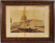 Albumen Photograph East Facade Of US Capitol Bldg.