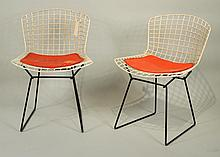 Pair Vintage Harry Bertoia For Knoll Side Chairs