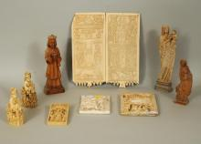 Group 7 Reproduction Religious Faux Ivory Items