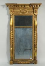 New York Carved & Gilded Federal Mirror