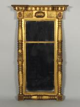 Large Classical Carved & Gilded Mirror