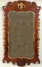 Transitional Queen Anne Walnut Wall Mirror