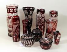 Group Eleven Bohemian Glassware