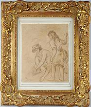 Attributed to Renoir, Pencil Sketch, Signed