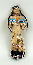Sioux Beaded and Quilled Hide Doll