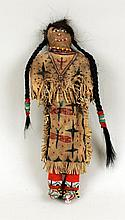 Sioux Painted and Beaded Hide Doll