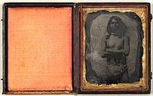 Ambrotype Depicting Native American Brave