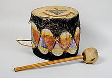 Native American Pueblo Drum and Beater