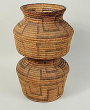 Tohono O'Odham Double Basket Olla