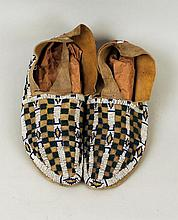 Pair of Plains Moccasins