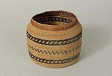 Finely Woven Northwest Coast Patterned Basket