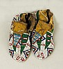 Pair of Sioux Beaded Moccasins