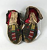 Pair of Native American Beaded Moccasins