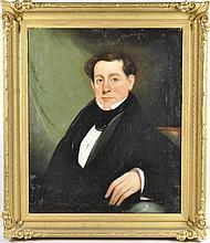 American Folk Art Portrait Of Reverend John Keller