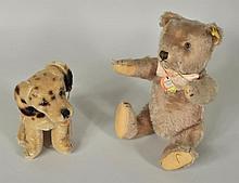 Two Steiff Stuffed Animals, Teddy Bear & Dalmation