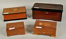 Group of Four Music Boxes