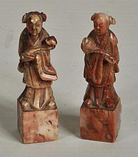 Two Small Chinese Carved Hardstone Figures
