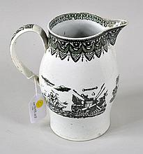 English Pearlware Transfer Pitcher