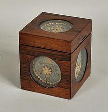 English Rosewood Tea Caddy, Paperwork Panels