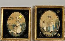Pair of English Silkwork Pictures