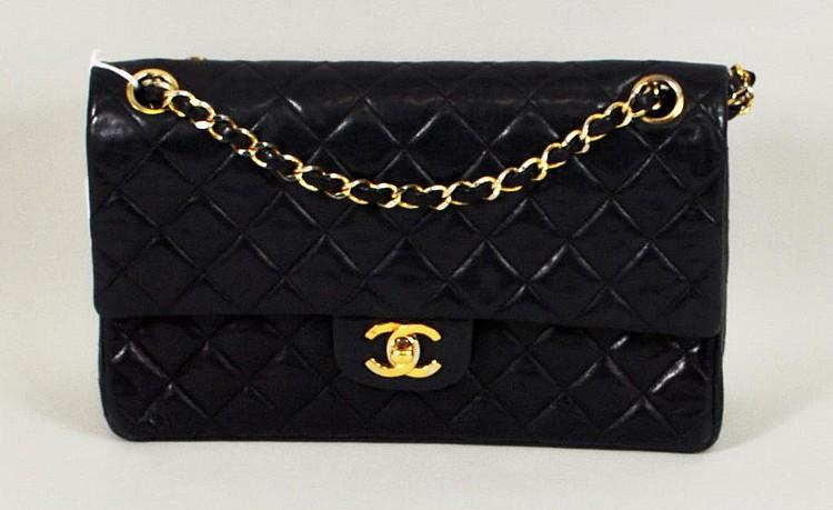 Vintage Navy Blue Chanel Handbag