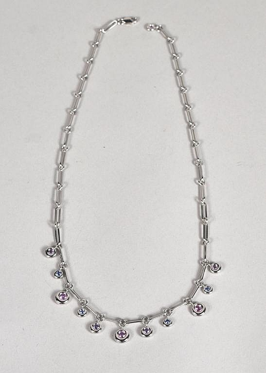 Chaumet Paris 18K White Gold & Sapphire Necklace