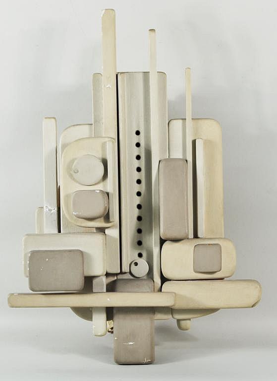 A. Hoffman, Jr.  Modernist Painted Wood Wall Clock