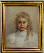 N. Homans,19th/20thC, Portrait Mildred Cox Howes