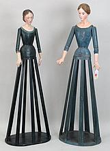 Two Portuguese Santos Cage Figures
