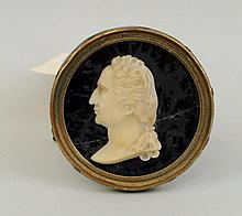 Wax Carved Cameo of George Washington