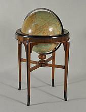 Rand McNally Terrestrial Globe, Art Deco Stand