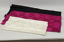 Three Lengths of Chinese Patterned Silk