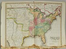 Map United States, Henry Bostwick, NY 1825