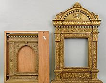 Two Continental Gilt Tabernacle Frames